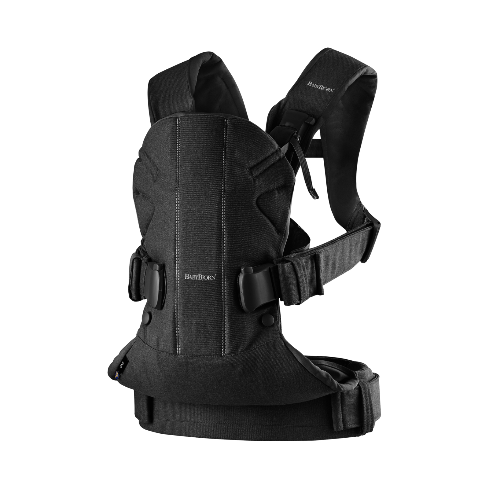 BabyBjorn Carrier One - Black Cotton Mix