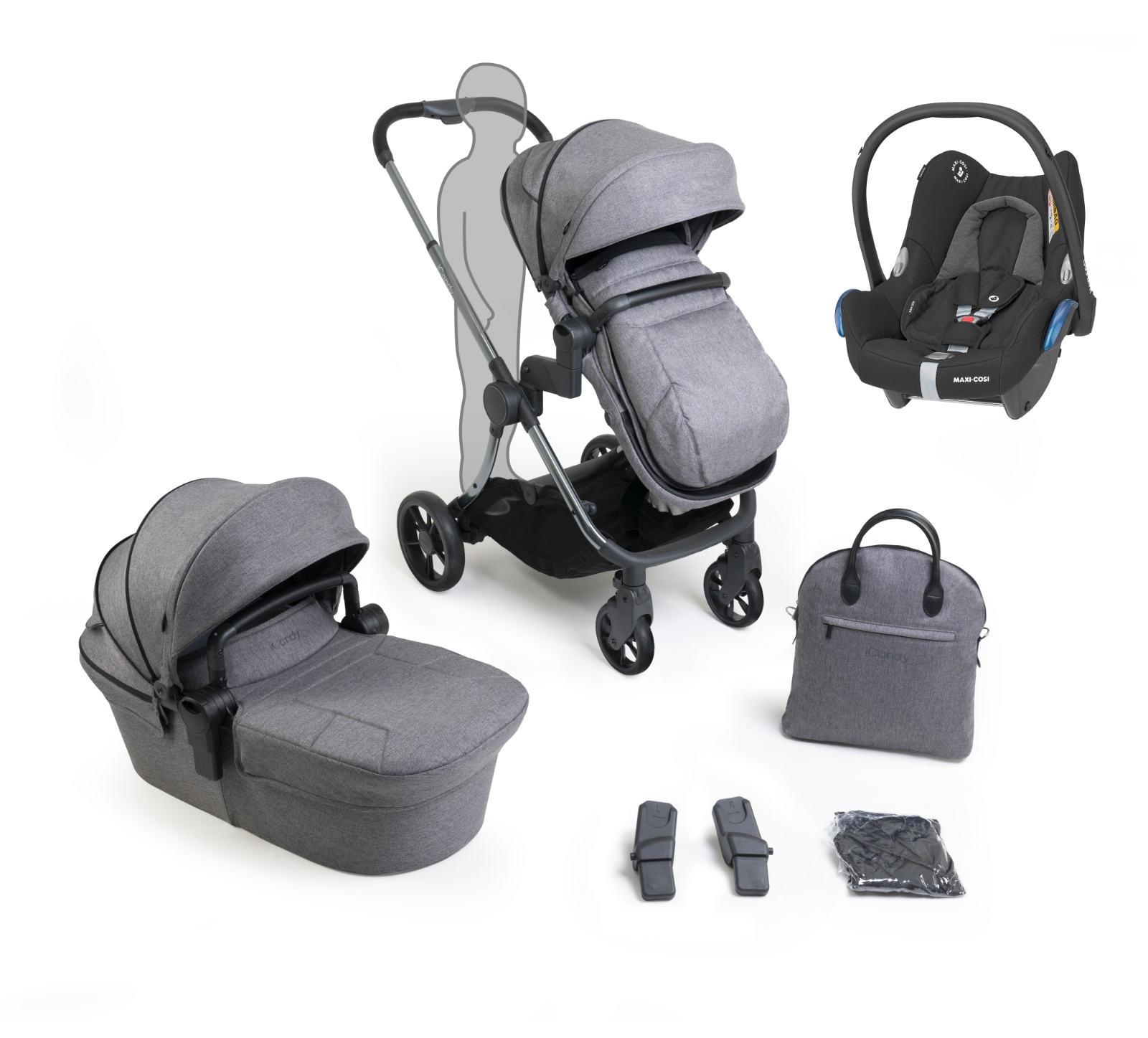 iCandy Lime Lifestyle Range Bundle - Charcoal