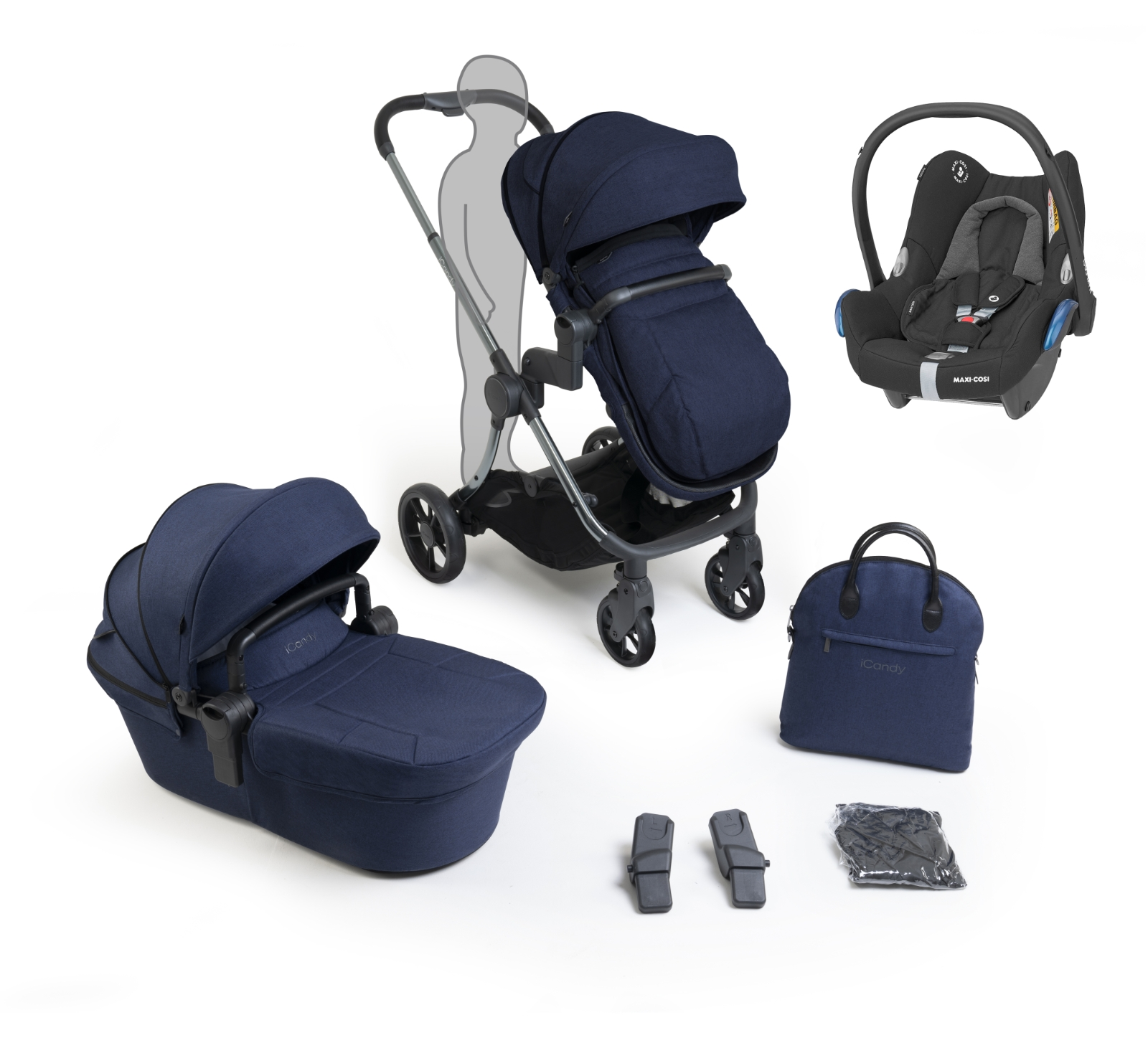 iCandy Lime Lifestyle Range Bundle - Navy