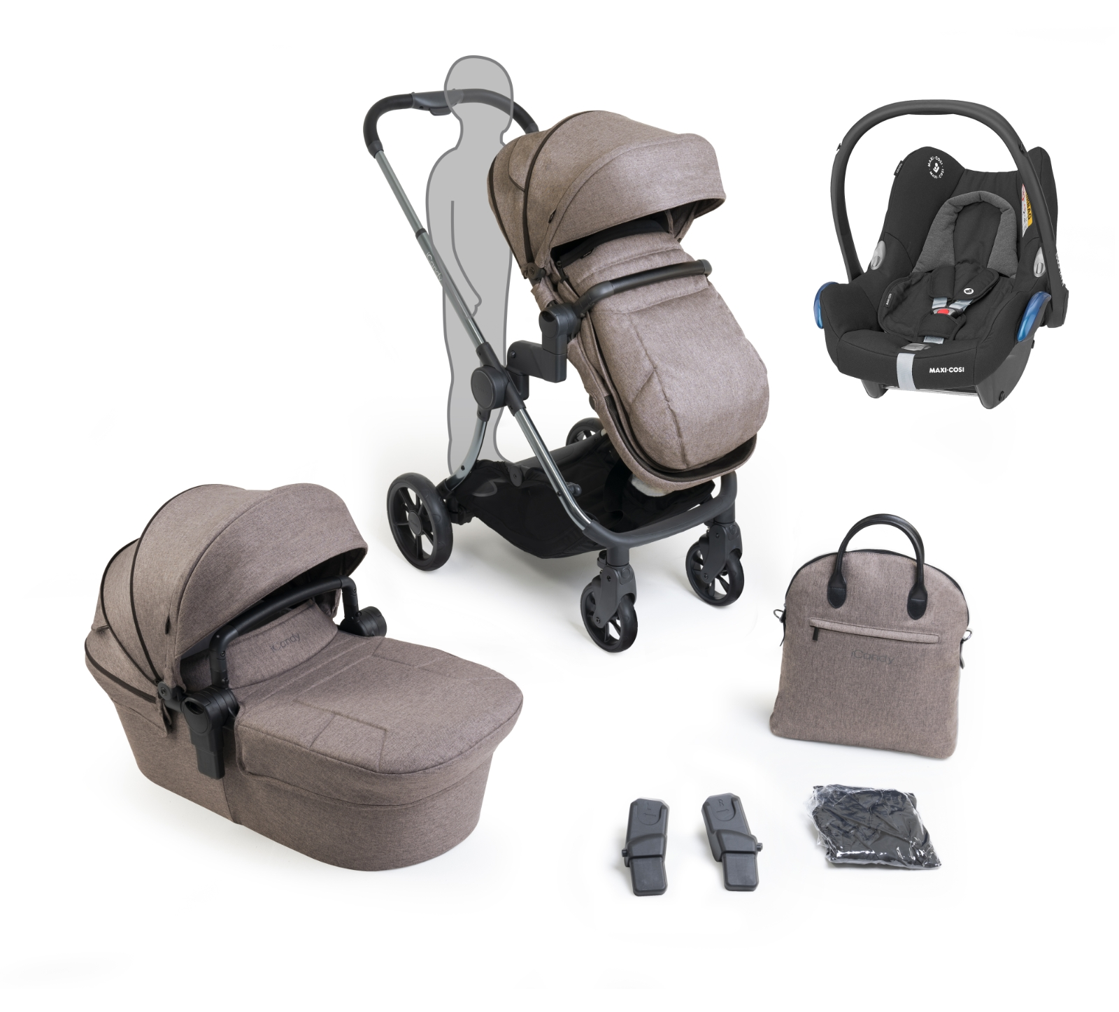 iCandy Lime Lifestyle Range Bundle - Taupe