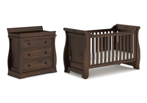 boori-sleigh-2-piece-room-set-cot-bed-dresser-coffee