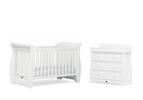 boori-sleigh-2-piece-room-set-cot-bed-dresser-white