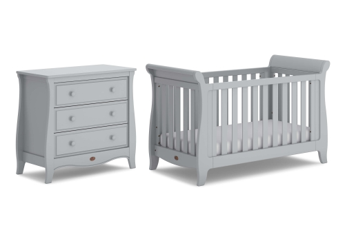 boori-sleigh-expandable-cot-bed-2-piece-set-cot-bed-chest-pebble