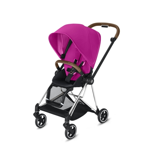 cybex-mios-chrome-brown-handle-fancy-pink