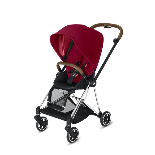 cybex-mios-chrome-brown-handle-true-red