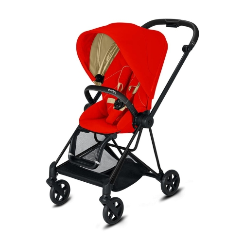 cybex-mios-matt-black-autumn-gold