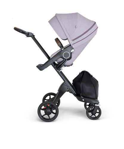 stokke-xplory-v6-black-chassis-brown-handle-brushed-lilac