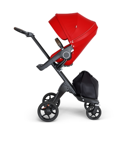 stokke-xplory-v6-black-chassis-brown-handle-red