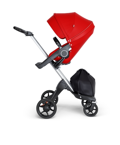 stokke-xplory-v6-silver-chassis-black-handle-red